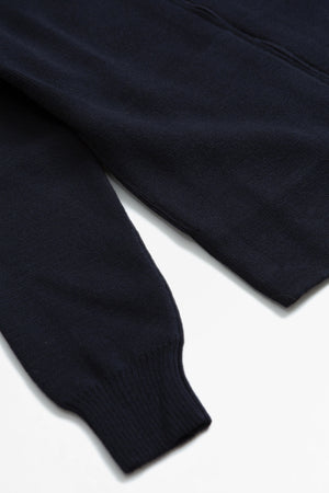 Zipped cardigan navy blue