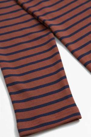 Heritage breton shirt dark orange/navy