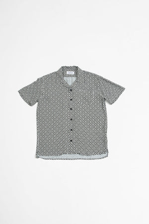Cave S/S shirt black+white print