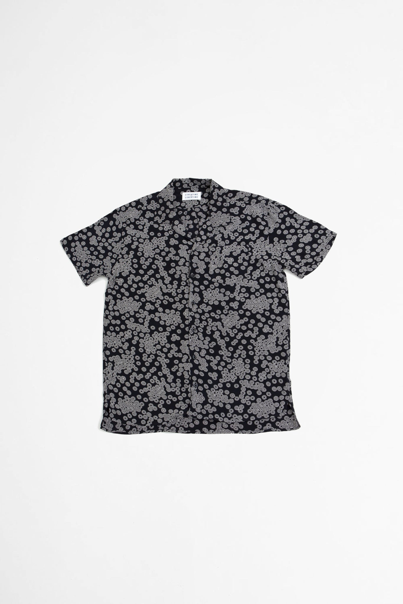 Cave S/S shirt dark navy print