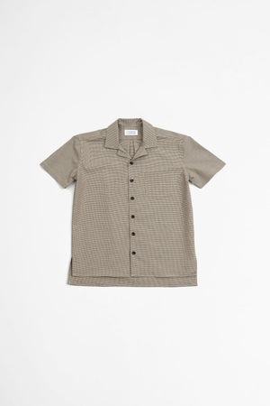 Cave S/S shirt brown check II