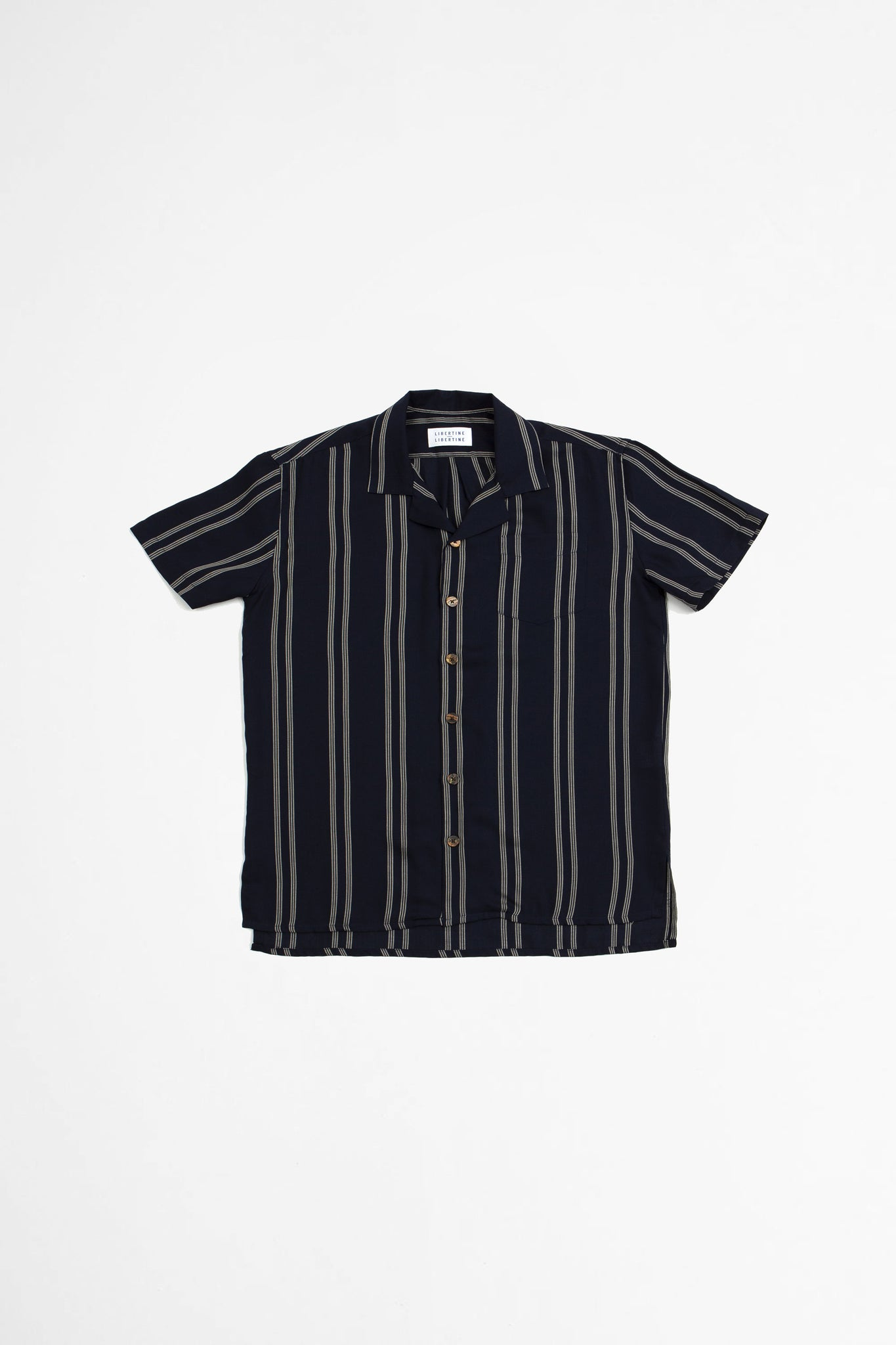 Cave S/S shirt navy pin