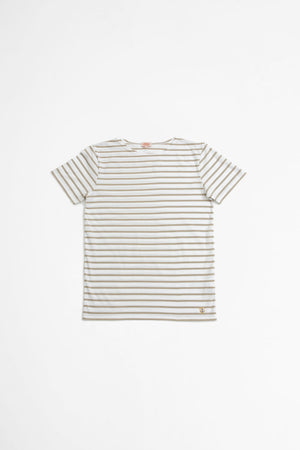 Sailor t-shirt Hoedic white/flaxbeige