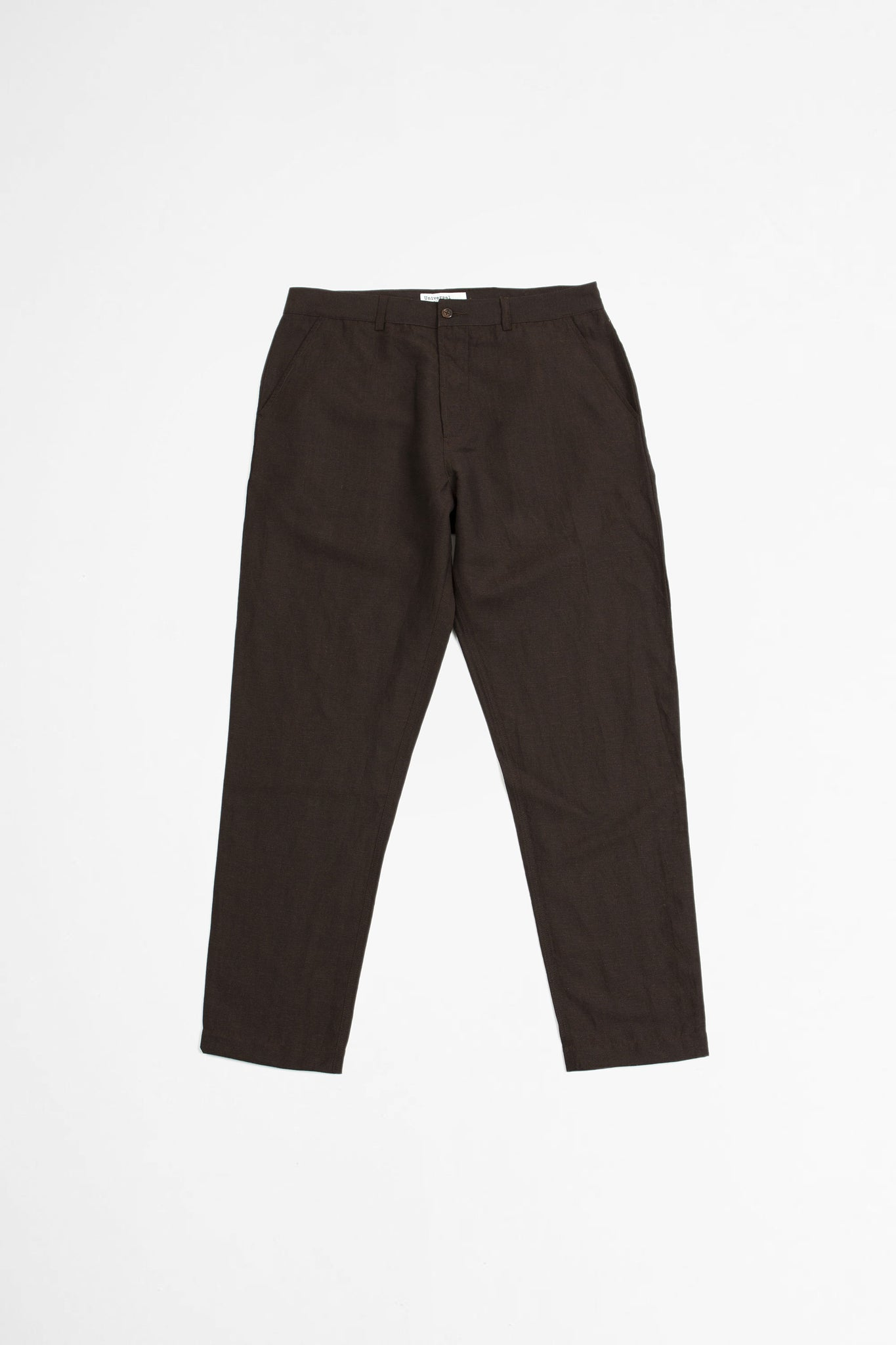 Military chino linen mix suiting brown
