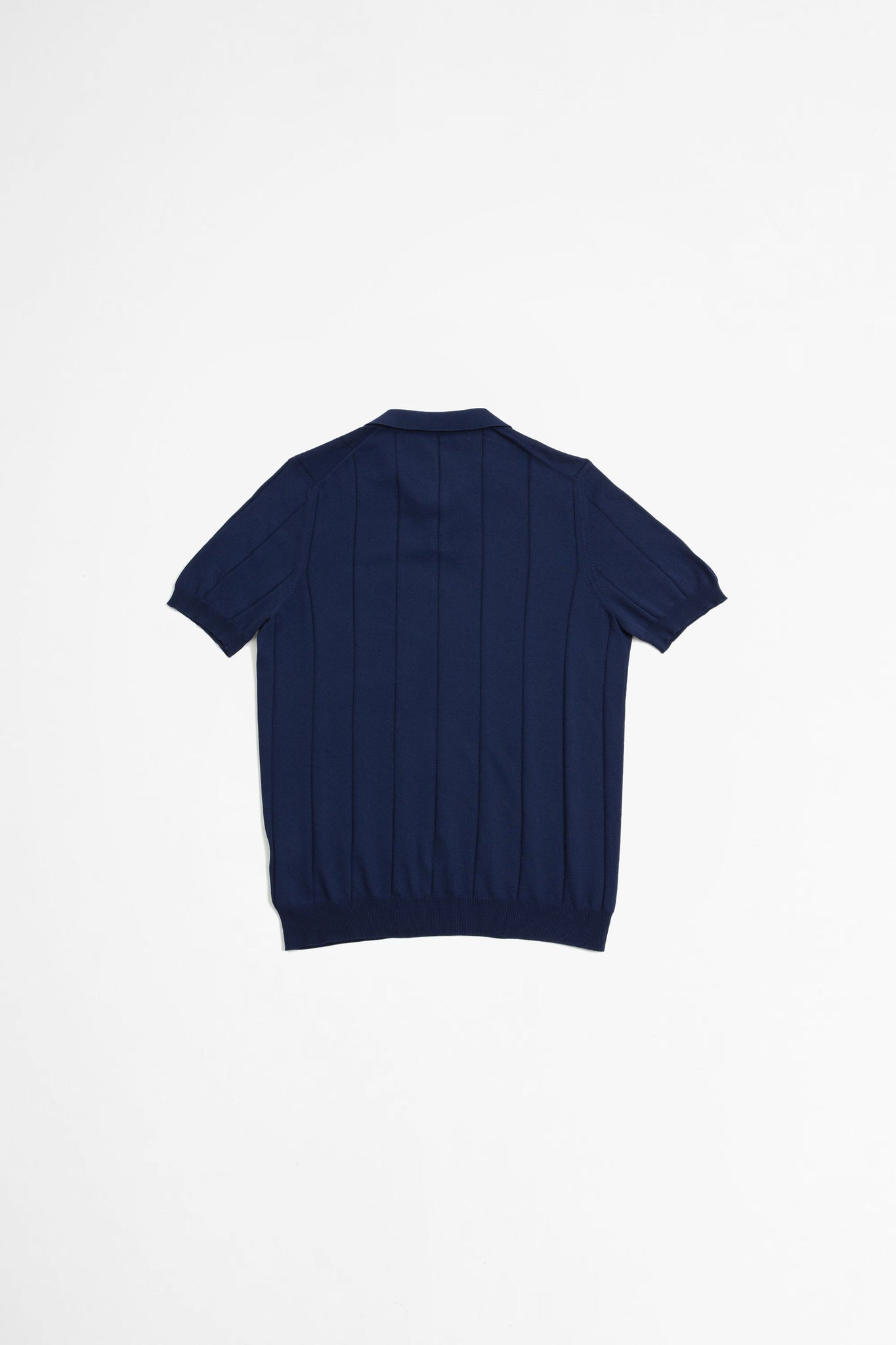 Ribbed tennis polo navy blue