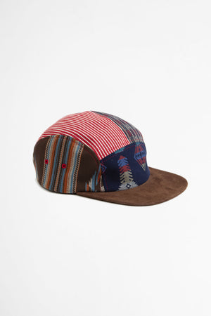 5 Panel patchwork cap brown