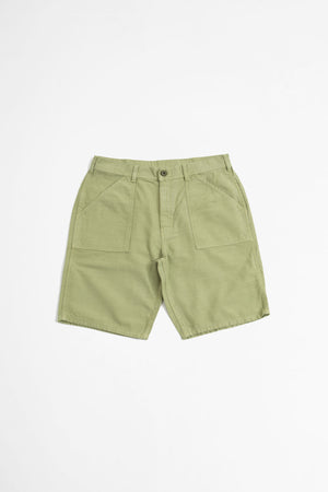 Fat short olive sateen