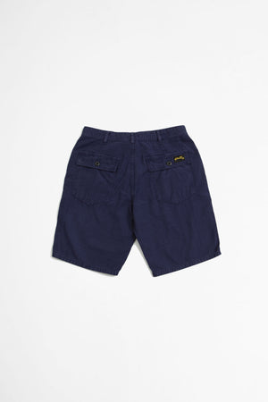 Fat short navy sateen