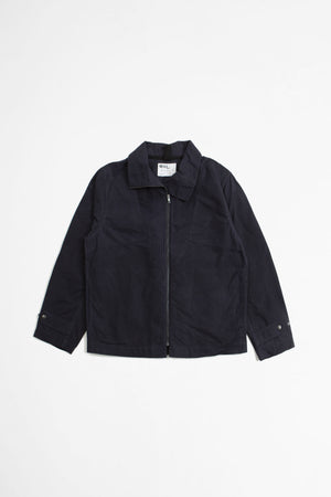 Rescue jacket washed waxed cotton dark indigo