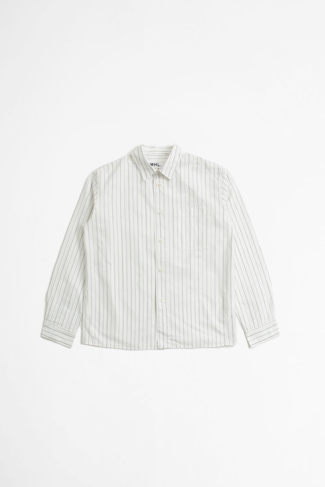 Painters shirt graphic stripe offwhite/indigo