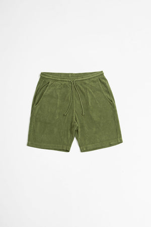 Beach short terry fleece olive