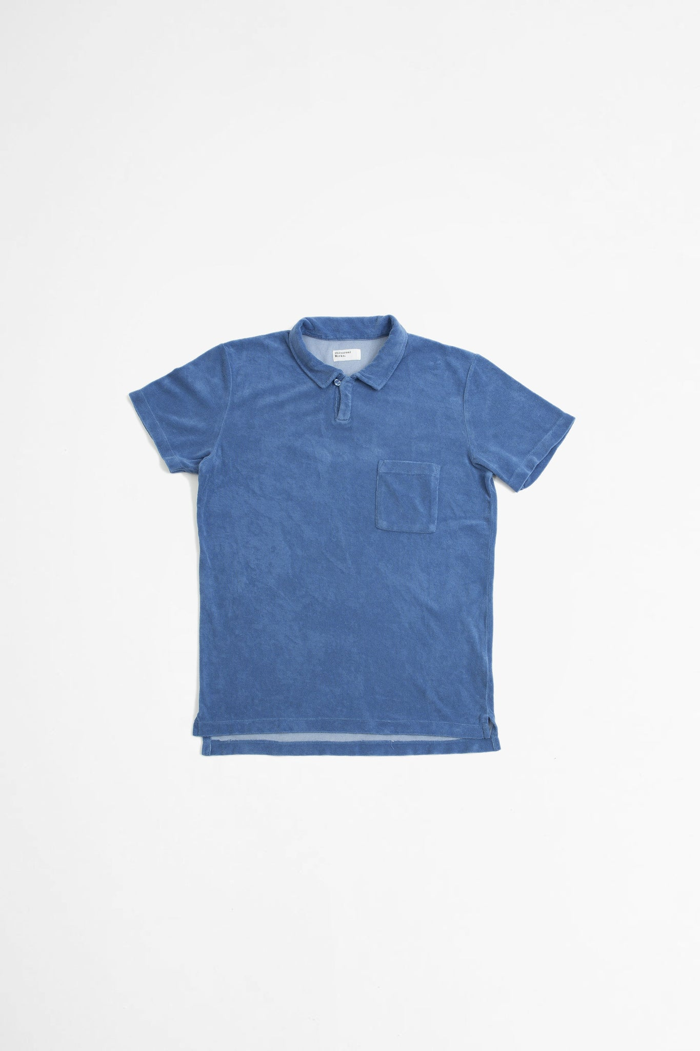Vacation polo terry fleece blue