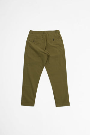 Pleated pant ripstop olive