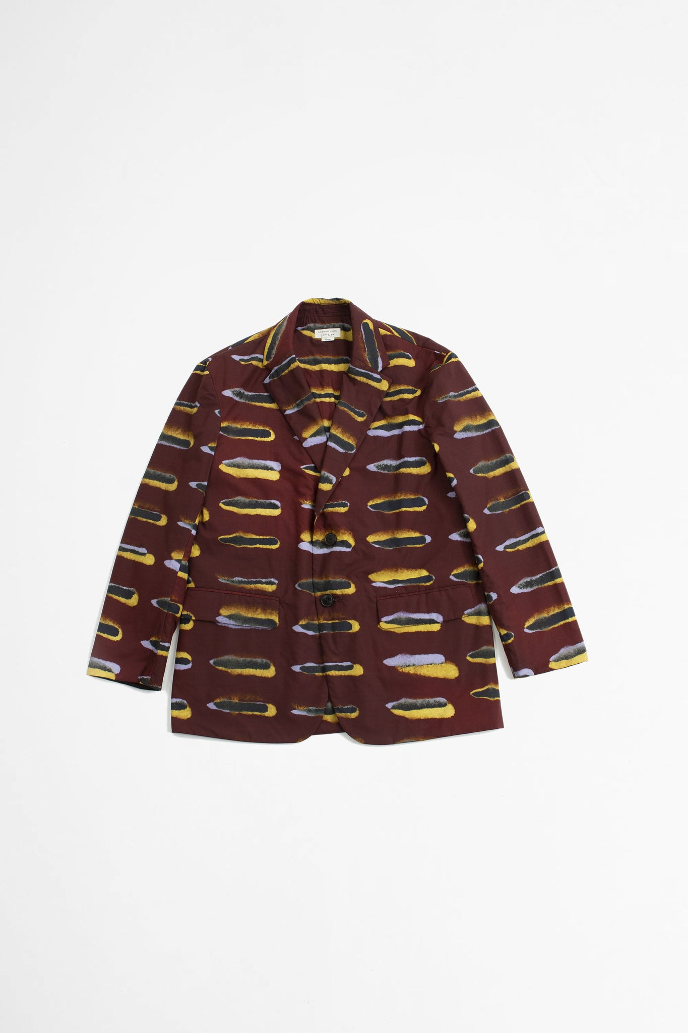 Berkleys printed jacket burgundy