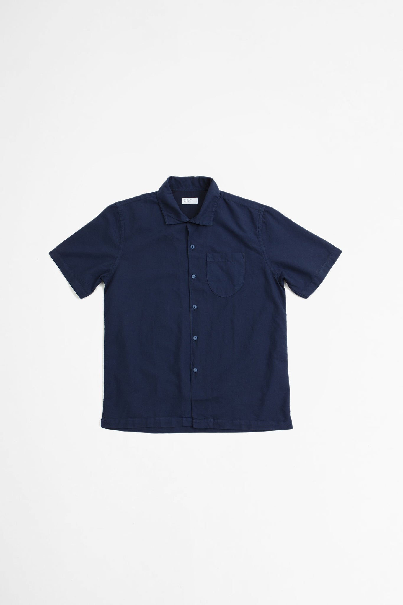 Open collar shirt oxford navy