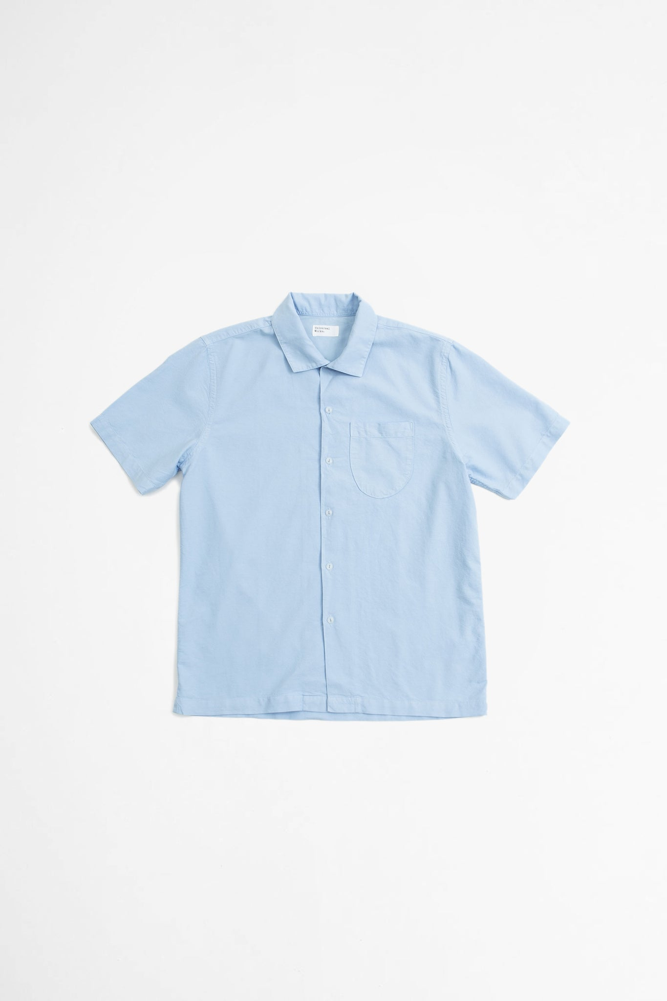 Open collar shirt oxford sky blue