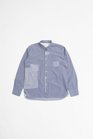 Patched shirt navy