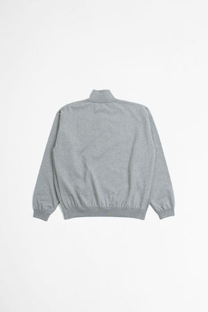 Degrease half zip knit grey