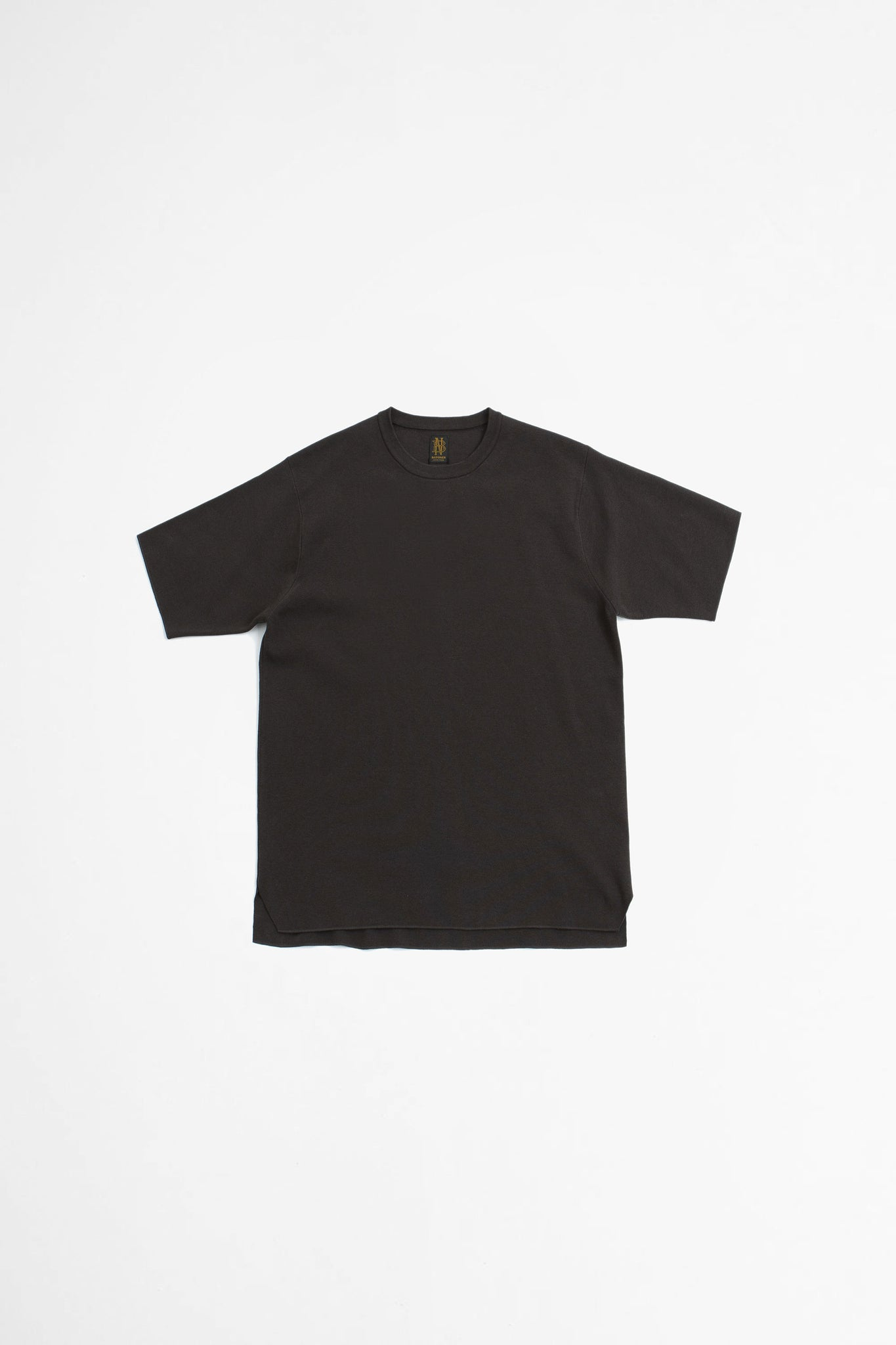 Smooth knit t-shirt brown