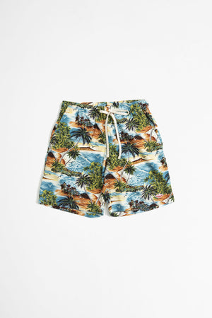 Active lazy shorts island print