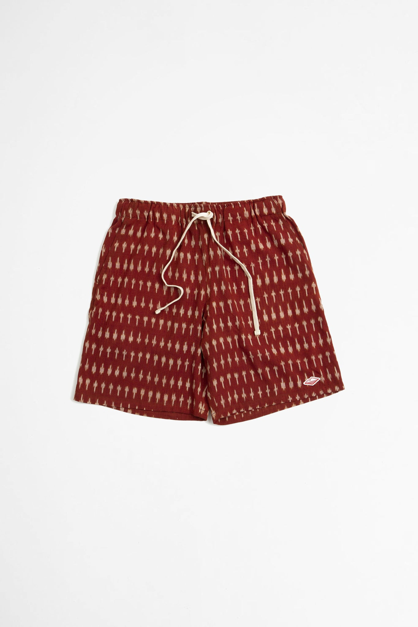 Active lazy shorts clay ikat