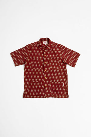Five pocket island shirt clay ikat