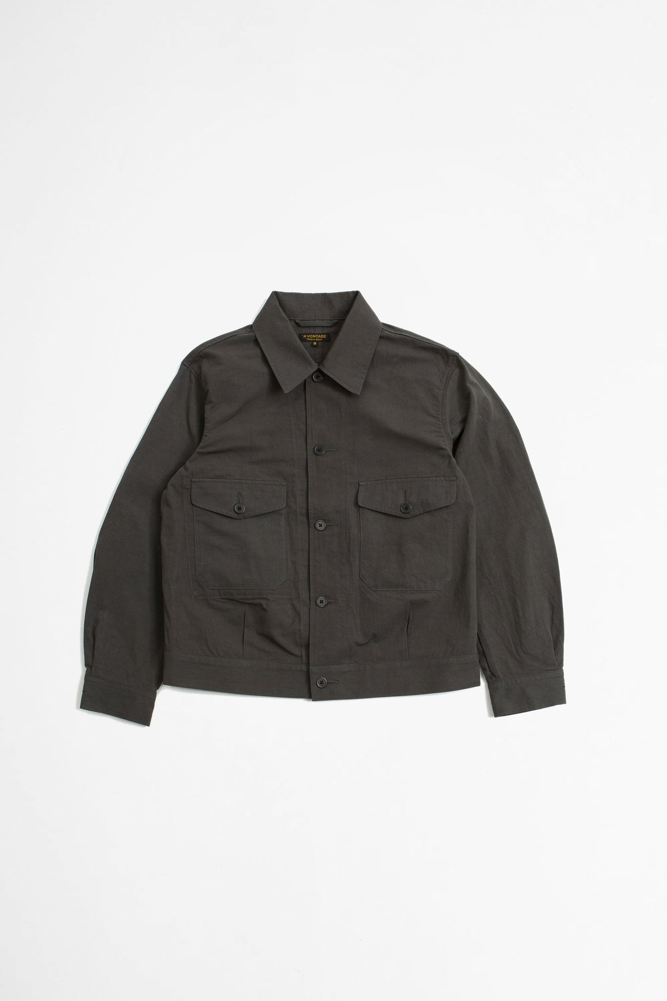 British short jacket charcoal