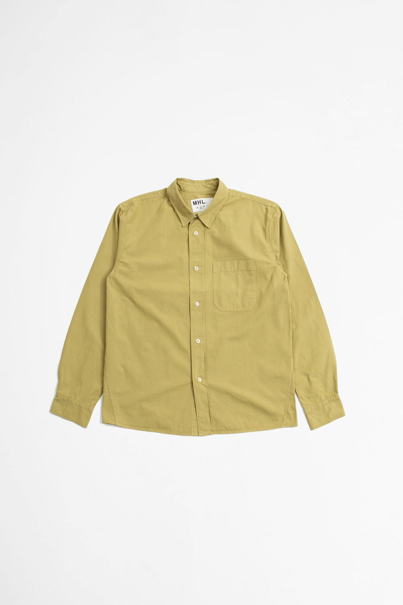 Painters shirt coarse yarn cotton pale khaki