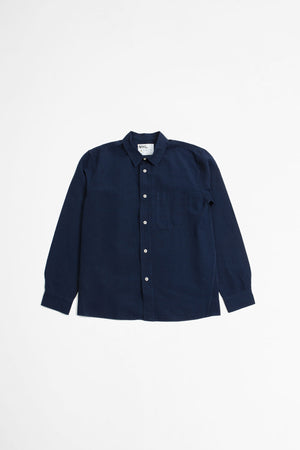 Painters shirt cotton/linen indigo