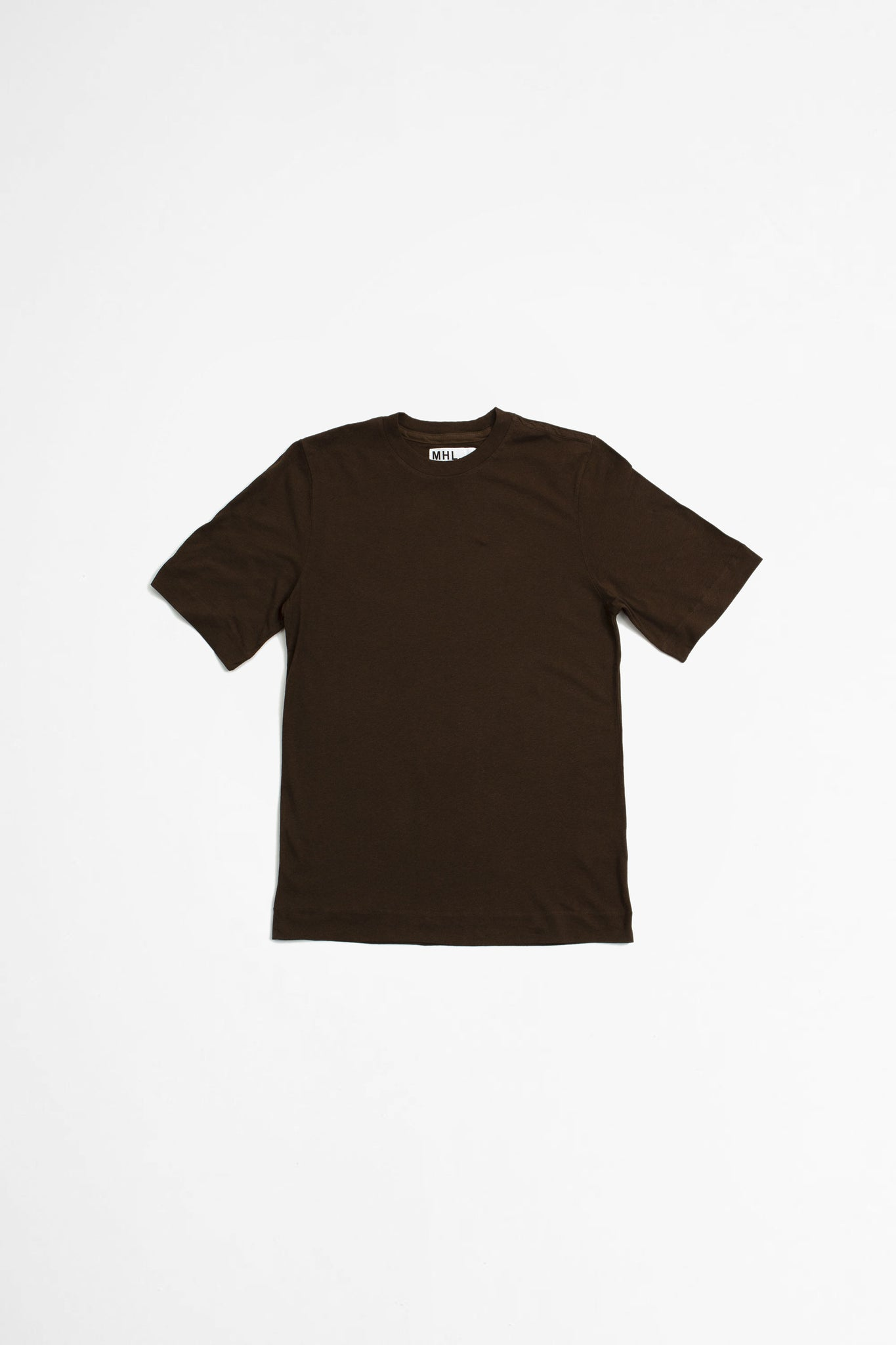Basic t-shirt cotton linen jersey chestnut