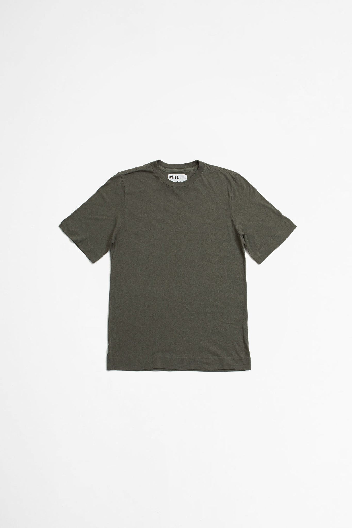 Basic t-shirt cotton linen jersey sage