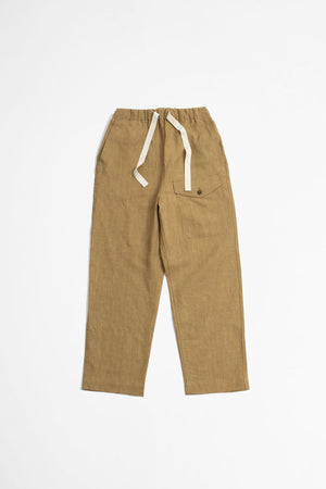 Linen british military easy trousers khaki beige