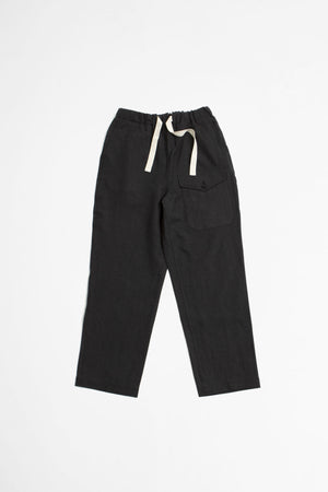 Linen british military easy trousers ink black