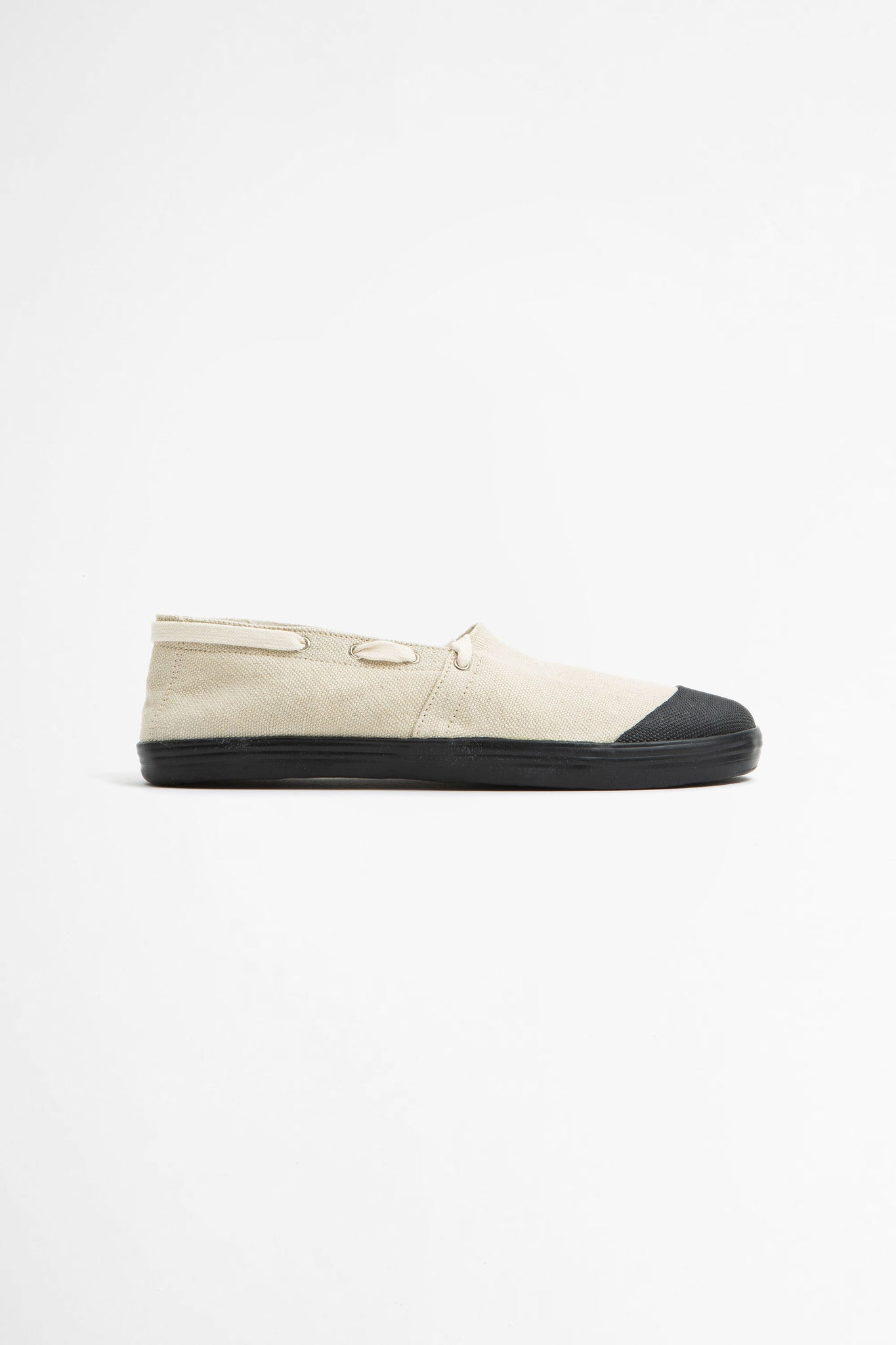 French military espadrilles natural/black sole