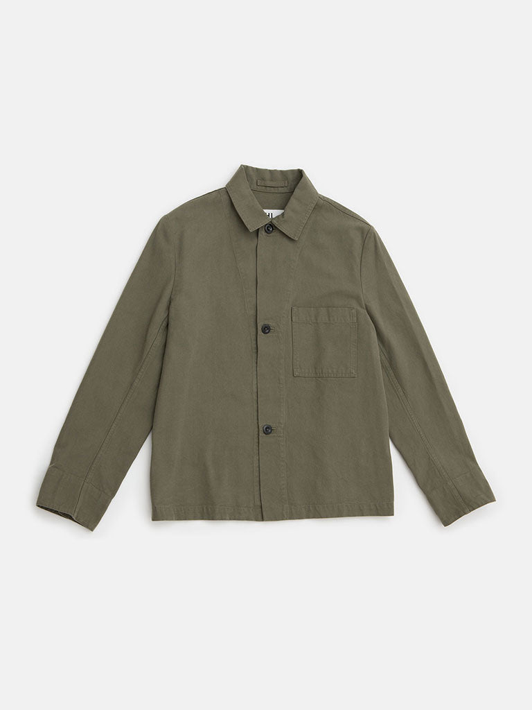 Margaret Howell.  3 button dense cotton canvas Khaki jacket