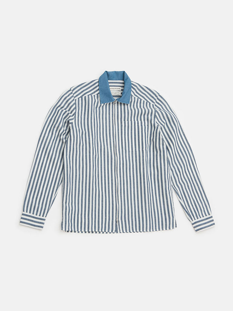 Delon blue stripes shirt