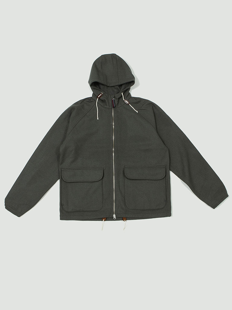 Universal Works. Hooded windbreaker grey