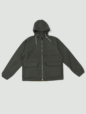 Hooded windbreaker grey