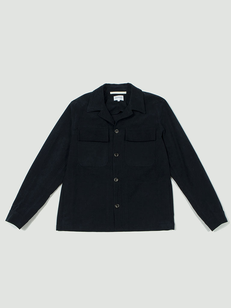 Norse Projects. Kyle Moleskine dark navy