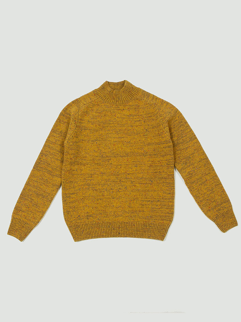 Norse Projects. Viggo high neck neps mustard yellow