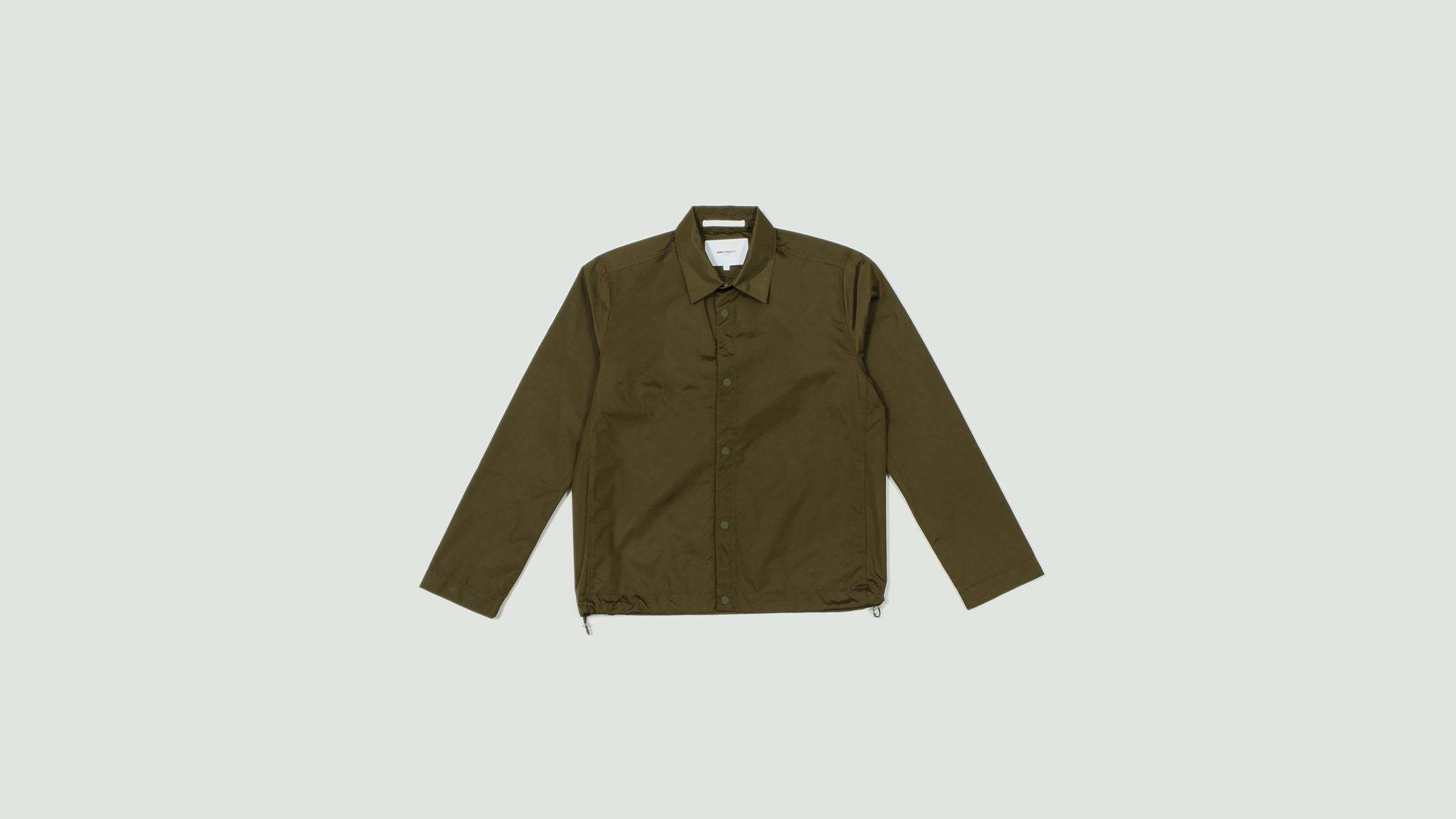 Norse Projects. Svend nylon oxford stika green