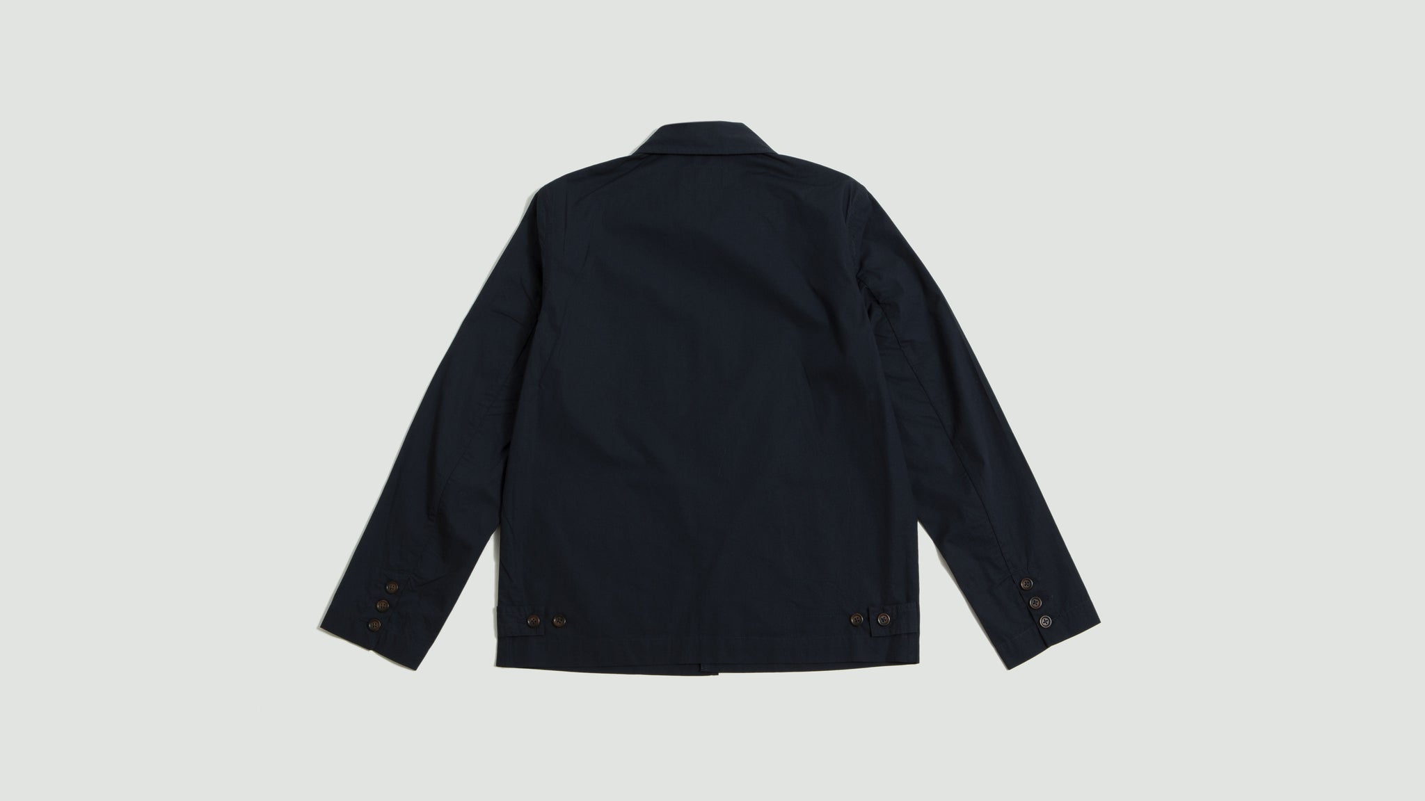 Universal Works. Warmus jacket poplin navy