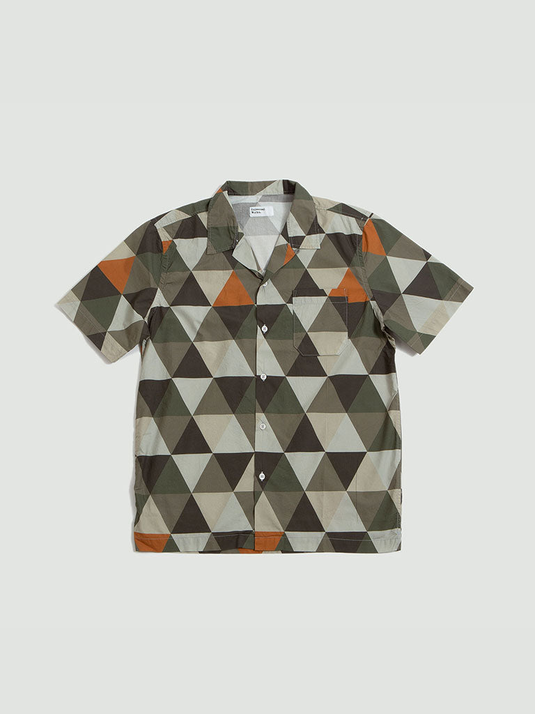 Universal Works. Road shirt geometric poplin cotton