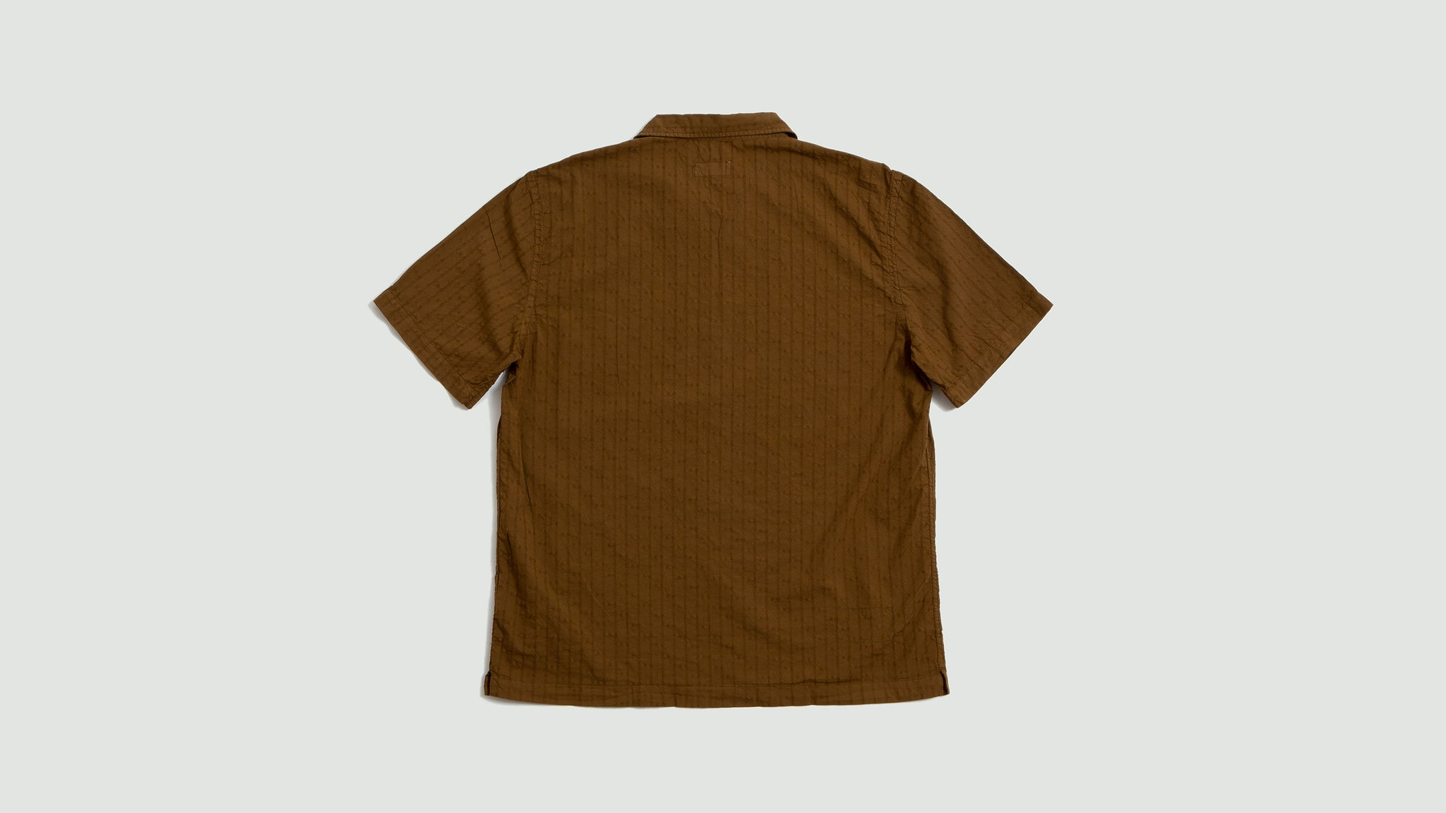 Universal Works. Road shirt jacquard cotton khaki