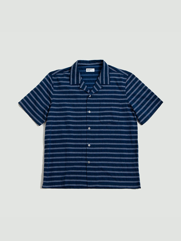 Universal Works. Midnight stripe road shirt 2