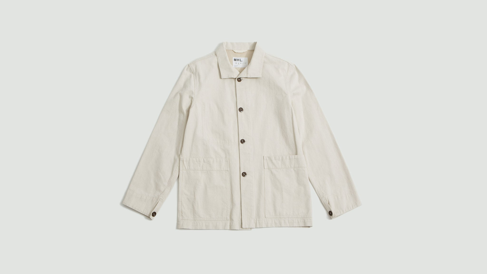 Stand collar jacket denim natural