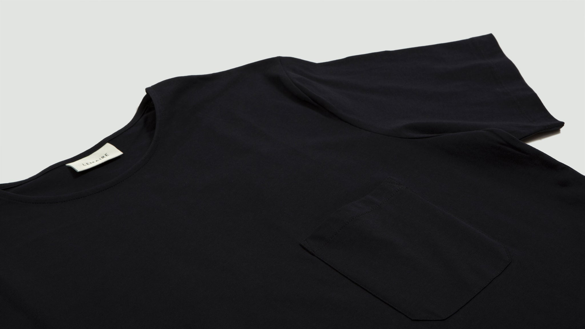 Lemaire. Short sleeve t-shirt blue black