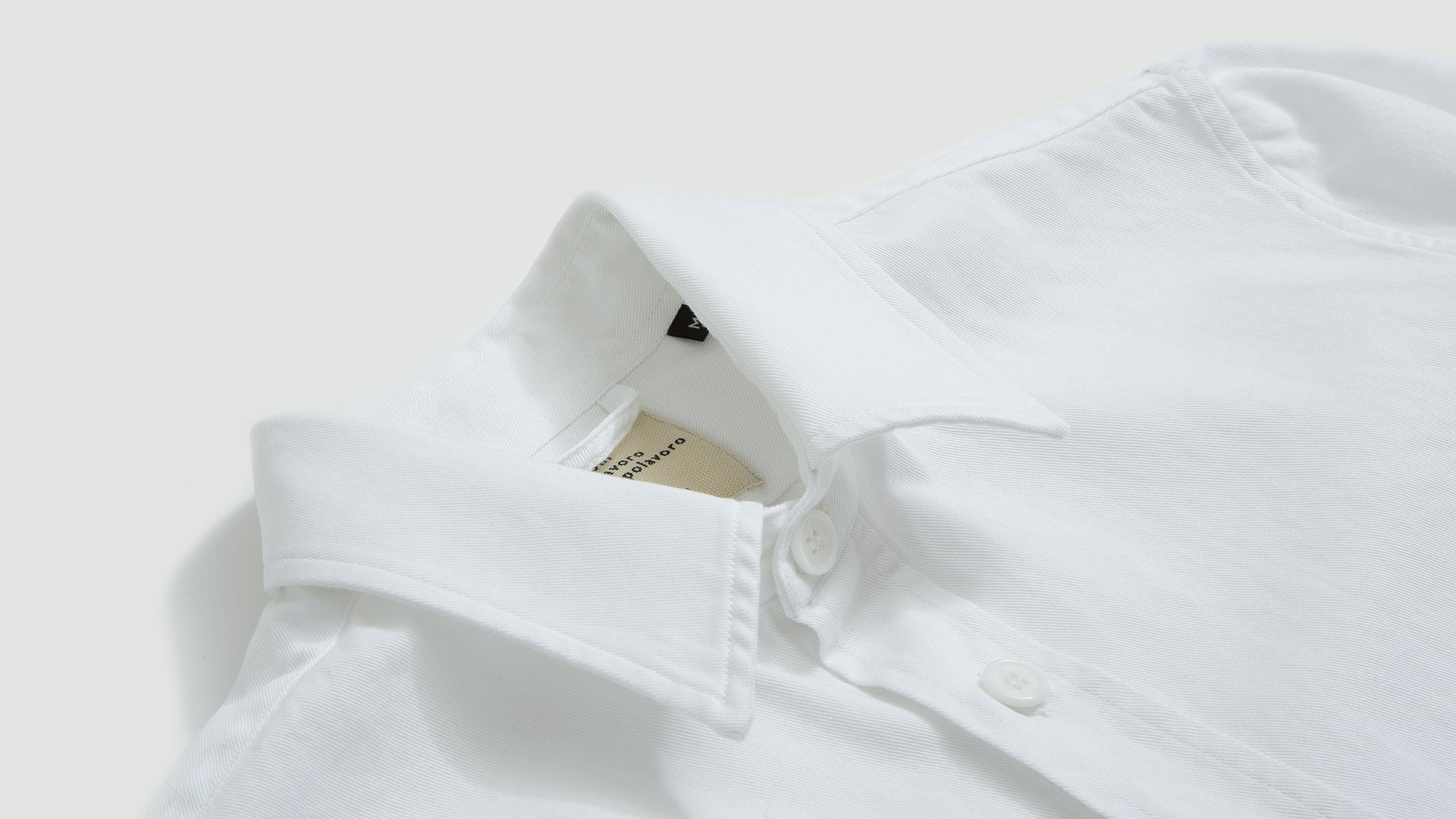 Cotton overshirt white