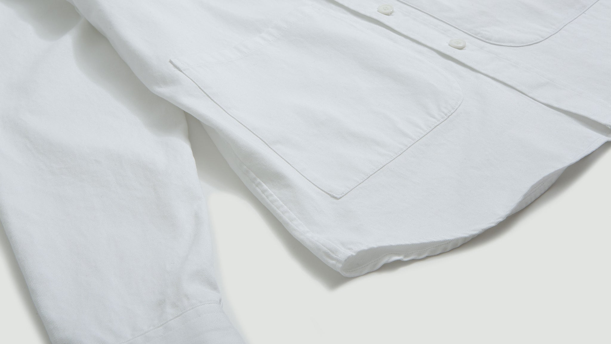 Aspesi. Cotton overshirt white