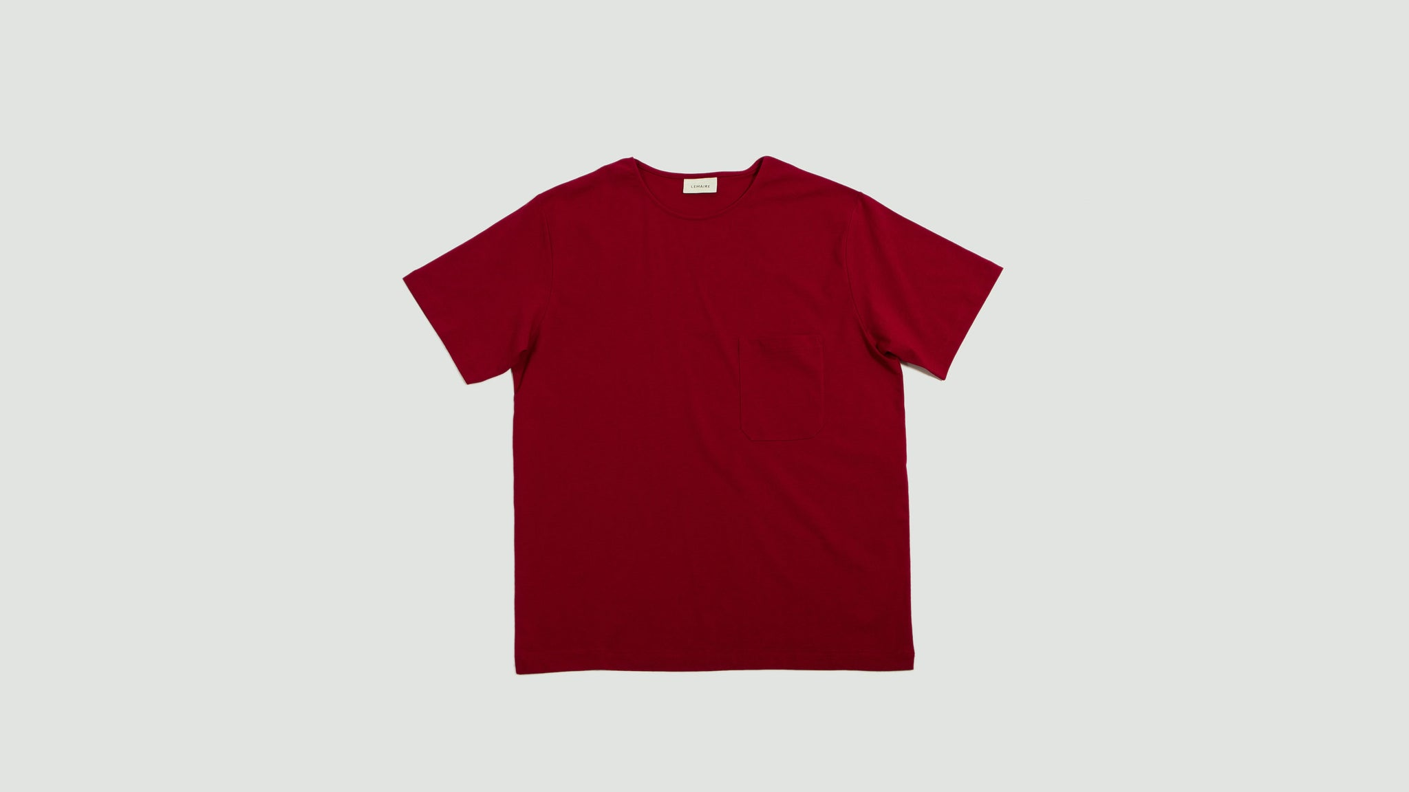 Lemaire. Short sleeve t-shirt raspberry